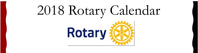 2018 Rotary Calendar