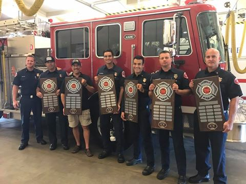 The Corona Rotary Club also donated funds to the Corona Firefighters Association to create memorial plaques to honor the city's fallen firefighters.