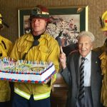 District 5330 surprises Rotarian Bob Logsdon with a 100th Year Birthday Party!