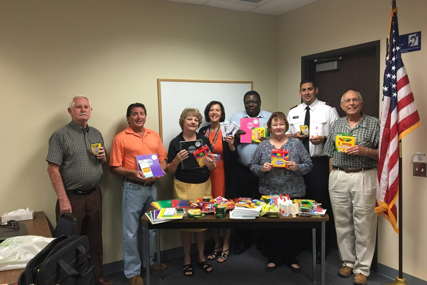 Hemet Sunrise donated school supplies to Salvation Army for the S.A.M. Program